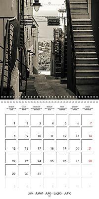 black and white italian alleys (Wall Calendar 2019 300 × 300 mm Square) - Produktdetailbild 7