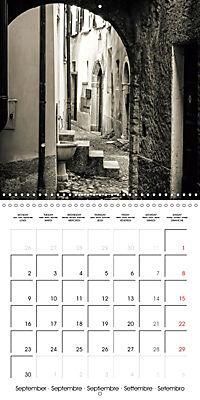 black and white italian alleys (Wall Calendar 2019 300 × 300 mm Square) - Produktdetailbild 9