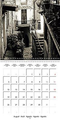 black and white italian alleys (Wall Calendar 2019 300 × 300 mm Square) - Produktdetailbild 8