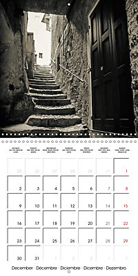 black and white italian alleys (Wall Calendar 2019 300 × 300 mm Square) - Produktdetailbild 12