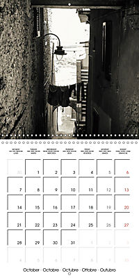 black and white italian alleys (Wall Calendar 2019 300 × 300 mm Square) - Produktdetailbild 10