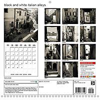 black and white italian alleys (Wall Calendar 2019 300 × 300 mm Square) - Produktdetailbild 13