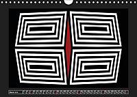 Black, white, red/UK-Version (Wall Calendar 2019 DIN A4 Landscape) - Produktdetailbild 3