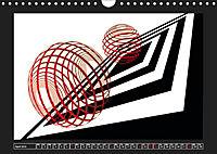 Black, white, red/UK-Version (Wall Calendar 2019 DIN A4 Landscape) - Produktdetailbild 4