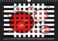 Black, white, red/UK-Version (Wall Calendar 2019 DIN A4 Landscape) - Produktdetailbild 2