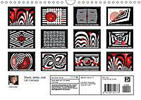 Black, white, red/UK-Version (Wall Calendar 2019 DIN A4 Landscape) - Produktdetailbild 13