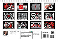 Black, white, red/UK-Version (Wall Calendar 2019 DIN A4 Landscape) - Produktdetailbild 13