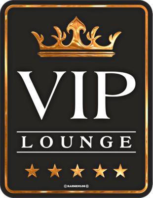 Blechschild VIP Lounge