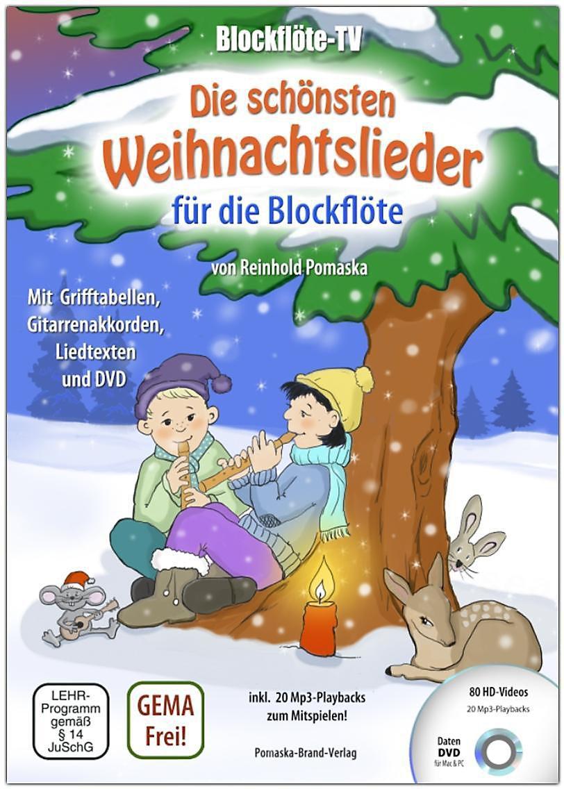 Blockflöte-TV: Die schönsten Weihnachtslieder für die Blockflöte, m ...