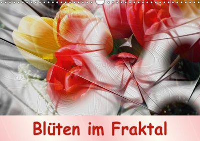 Blüten im Fraktal (Wandkalender 2019 DIN A3 quer), IssaBild