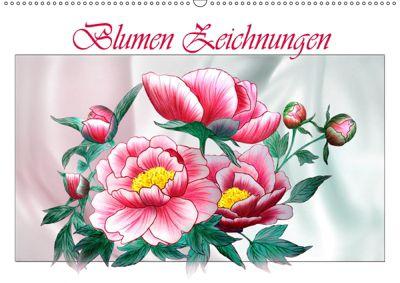 Blumen-Zeichnungen (Wandkalender 2019 DIN A2 quer), Dusanka Djeric