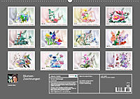 Blumen-Zeichnungen (Wandkalender 2019 DIN A2 quer) - Produktdetailbild 13