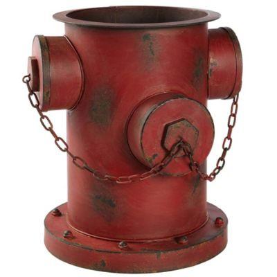 Blumentopf HydrantMetall,antik-rot, mit Kette,35x32x36cm