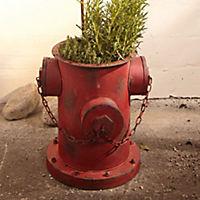 Blumentopf HydrantMetall,antik-rot, mit Kette,35x32x36cm - Produktdetailbild 1