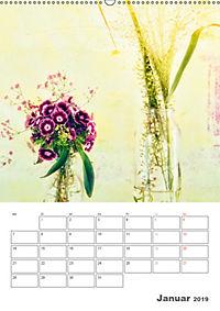 Blumige Fotomalerei (Wandkalender 2019 DIN A2 hoch) - Produktdetailbild 1
