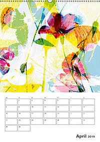 Blumige Fotomalerei (Wandkalender 2019 DIN A2 hoch) - Produktdetailbild 4