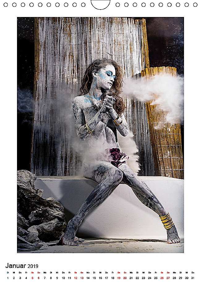 bodypainting 2019 wandkalender 2019 din a4 hoch. Black Bedroom Furniture Sets. Home Design Ideas