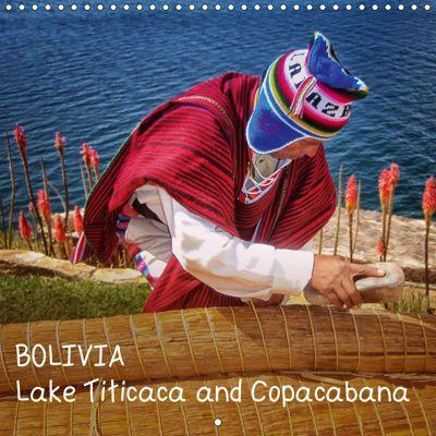 BOLIVIA Lake Titicaca and Copacabana (Wall Calendar 2019 300 × 300 mm Square), Max Glaser