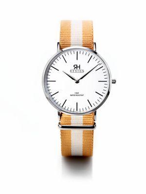 Bookaloo Armbanduhr mit Nylonband braun-beige-braun