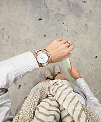Bookaloo Armbanduhr mit Nylonband braun-beige-braun - Produktdetailbild 1