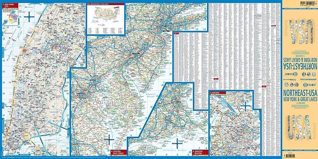 Borch Map Northeast-USA Buch bei Weltbild.ch online bestellen