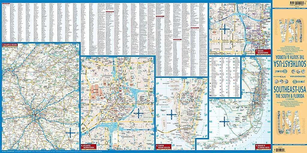 Borch Map Southeast-USA Buch versandkostenfrei bei Weltbild ...