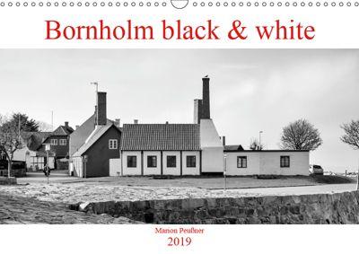 Bornholm black & white (Wandkalender 2019 DIN A3 quer), Marion Peußner
