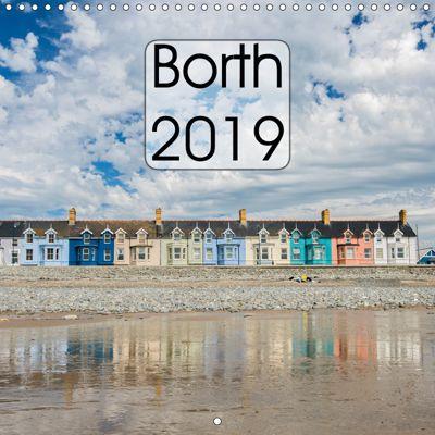 Borth - 2019 (Wall Calendar 2019 300 × 300 mm Square), Phil Jones