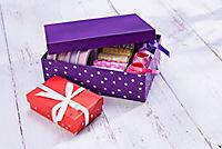 Boxen-Set mit Folienpunkten, 8tlg. - Produktdetailbild 1
