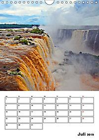 BRASILIEN UND ARGENTINIEN. Die Wasserfälle von Iguazú (Wandkalender 2019 DIN A4 hoch) - Produktdetailbild 1