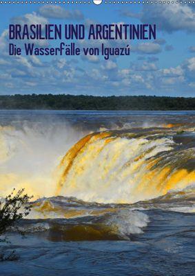 BRASILIEN UND ARGENTINIEN. Die Wasserfälle von Iguazú (Wandkalender 2019 DIN A2 hoch), J. Fryc