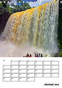 BRASILIEN UND ARGENTINIEN. Die Wasserfälle von Iguazú (Tischkalender 2019 DIN A5 hoch) - Produktdetailbild 1