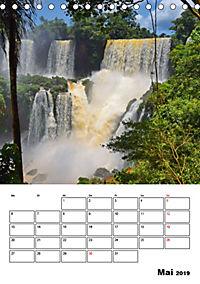 BRASILIEN UND ARGENTINIEN. Die Wasserfälle von Iguazú (Tischkalender 2019 DIN A5 hoch) - Produktdetailbild 5