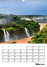BRASILIEN UND ARGENTINIEN. Die Wasserfälle von Iguazú (Wandkalender 2019 DIN A3 hoch) - Produktdetailbild 3