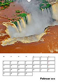 BRASILIEN UND ARGENTINIEN. Die Wasserfälle von Iguazú (Wandkalender 2019 DIN A3 hoch) - Produktdetailbild 2
