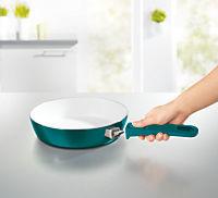 bratmaxx Keramik-Hochrandpfannen mit abnehmbaren Griffen, 3-er Set, smaragdgrün - Produktdetailbild 3