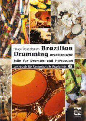 Brazilian Drumming, m. Audio-CD, Helge Rosenbaum