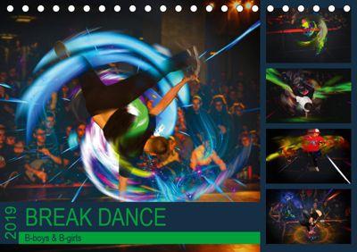 Break Dance B-boys & B-girls (Tischkalender 2019 DIN A5 quer), Dirk Meutzner