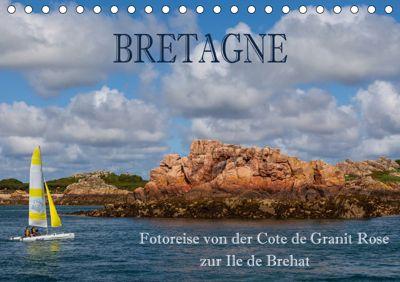 Bretagne - Fotoreise von der Cote de Granit Rose zur Ile de Brehat (Tischkalender 2019 DIN A5 quer), Hans Pfleger