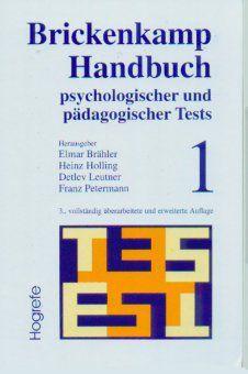 Brickenkamp Handbuch psychologischer und pädagogischer Tests, Rolf Brickenkamp