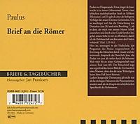 Briefe & Tagebücher: Brief des Paulus an die Römer, 1 Audio-CD - Produktdetailbild 1