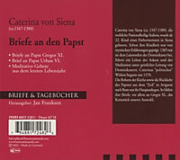 Briefe & Tagebücher: Caterina von Siena - Briefe an den Papst, 1 Audio-CD - Produktdetailbild 1