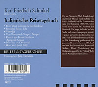 Briefe & Tagebücher: Karl Friedrich Schinkel - Italienisches Reisetagebuch, 1 Audio-CD - Produktdetailbild 1