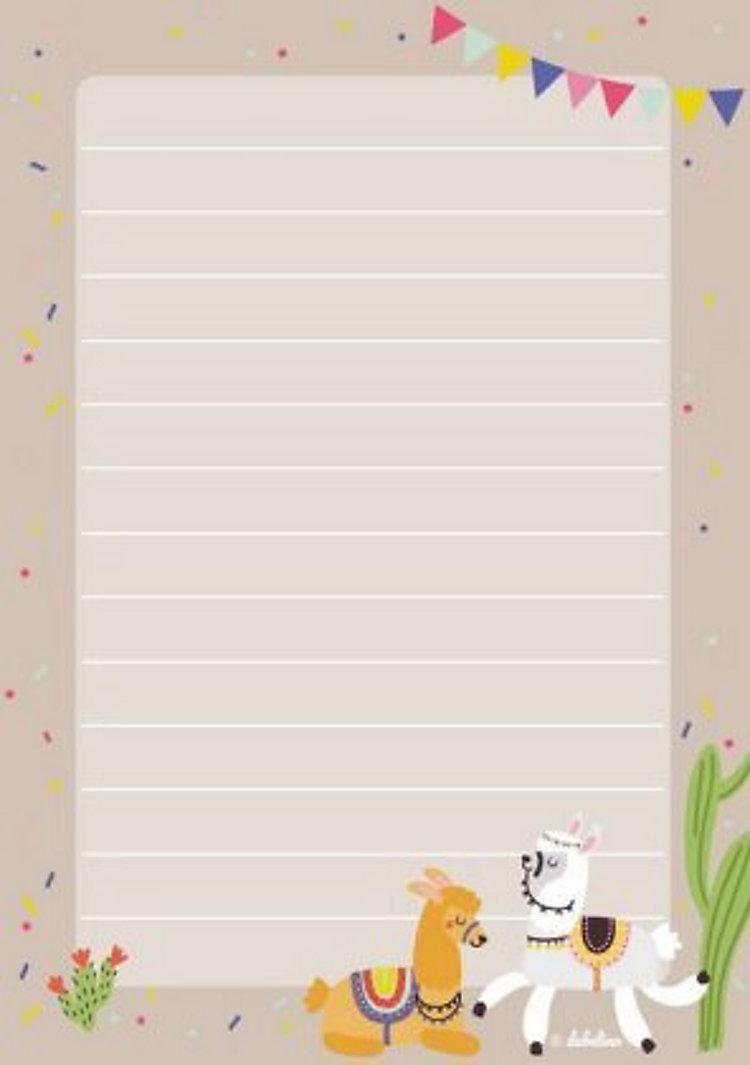 briefpapierset für kinder lama jetzt bei weltbildch