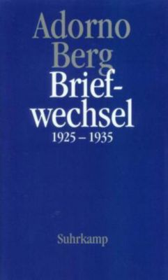 Briefwechsel 1925-1935, Theodor W. Adorno, Alban Berg
