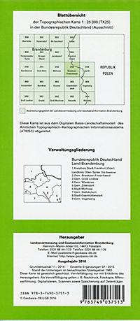 Brieskow-Finkenheerd 1 : 25 000 - Produktdetailbild 1
