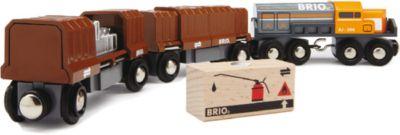 BRIO Diesellok mit Güterwaggons 5-teilig