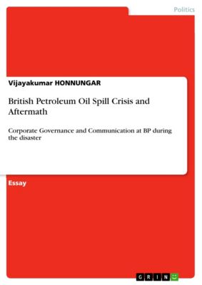 British Petroleum Oil Spill Crisis and Aftermath, Vijayakumar HONNUNGAR