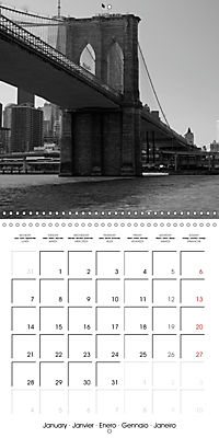Brooklyn Bridge New York (Wall Calendar 2019 300 × 300 mm Square) - Produktdetailbild 1
