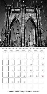 Brooklyn Bridge New York (Wall Calendar 2019 300 × 300 mm Square) - Produktdetailbild 2